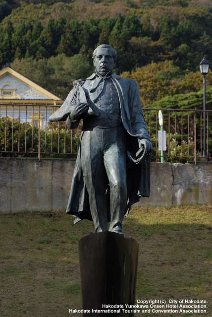 Memorial Statue of the Visit of Commodore Matthew C. Perry to Hakodate