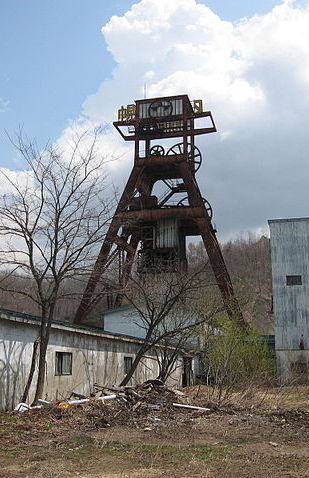 Horonai pit tower of the Hokutan Horonai Coal Mine