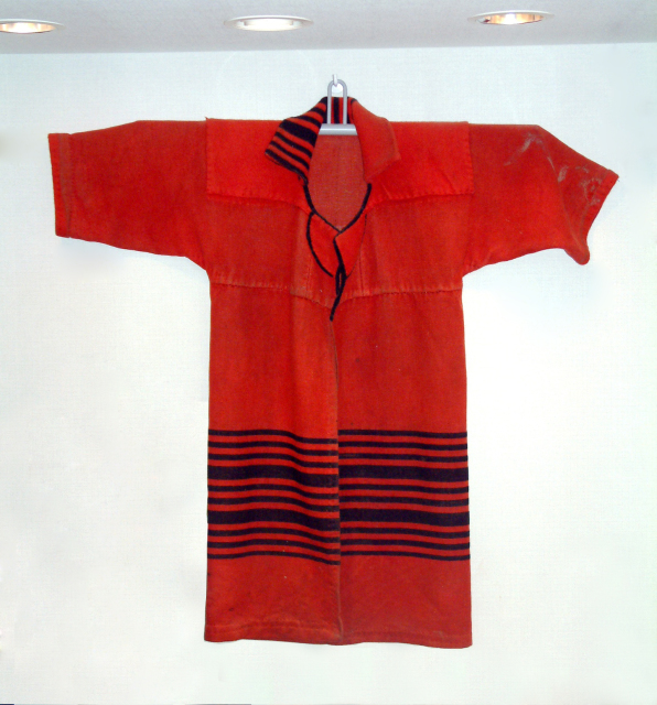 Red blanket coat