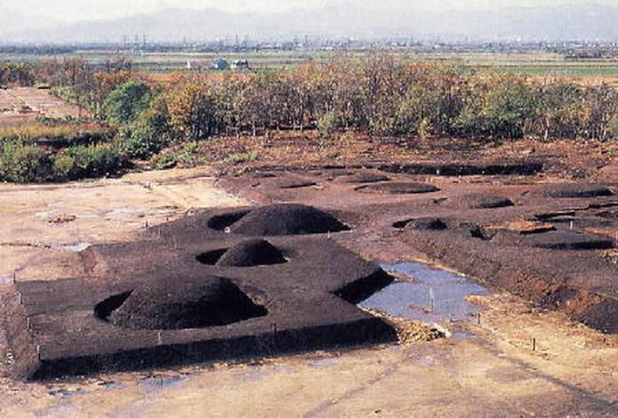 Restored Ebetsu burial mounds