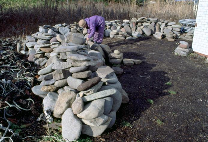 Ofune Site: Excavated milling basins