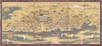 北海道指定有形文化財・松前屏風