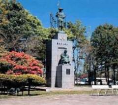 勇払原野開拓記念碑の千人同心の顕彰碑