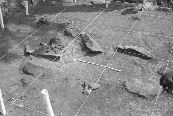 キウス周堤墓:2号周堤墓墓壙検出状態
