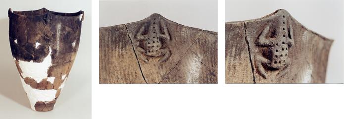 中標津町西竹遺跡出土 蛙意匠の土器