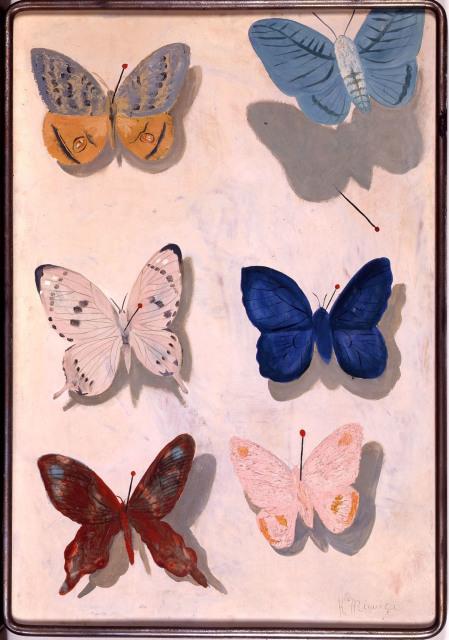 三岸好太郎「飛ぶ蝶」(1934年)
