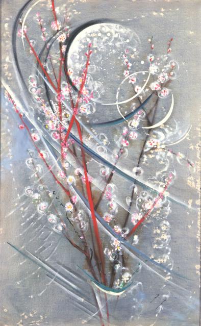 西村計雄「月と桃の花」(1977年)