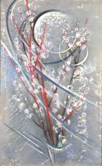 西村計雄「月と桃の花」
