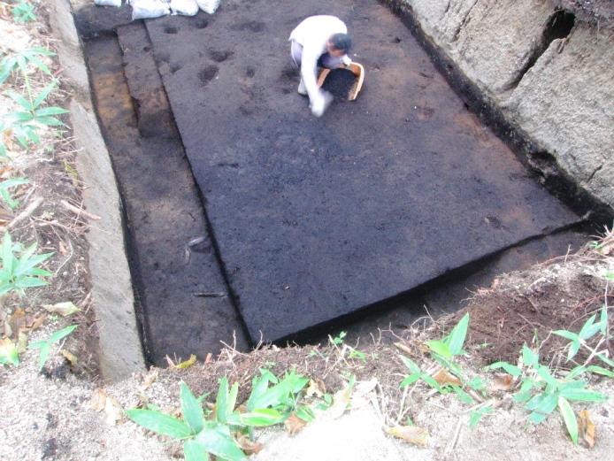 鷲ノ木遺跡:竪穴建物跡(発掘調査時)