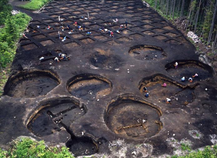 垣ノ島遺跡:後期後半の住居群