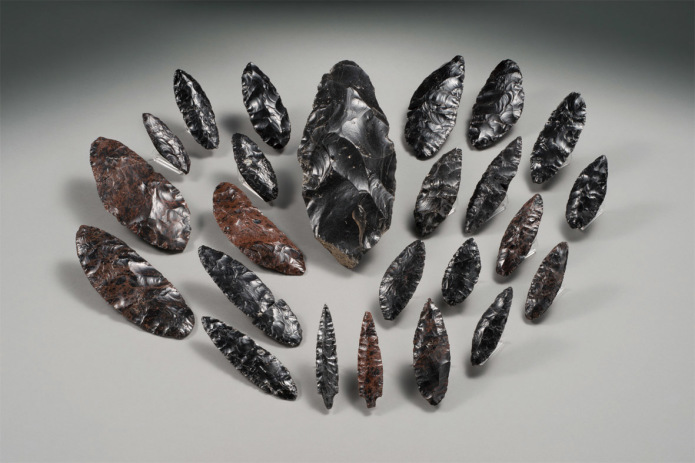 白滝遺跡群から出土した細刃技法の石器