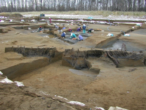 石狩紅葉山49号遺跡:発掘調査の様子
