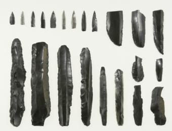 帯広市の大正7遺跡から出土した石刃鏃石器群