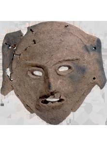 千歳市ママチ遺跡出土 土製仮面