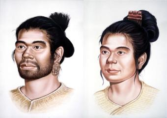 縄文文化の人の想像図