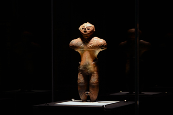函館市縄文文化交流センターに展示されたカックウ