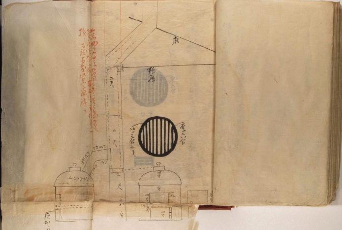 日本最初のストーブの仕様図