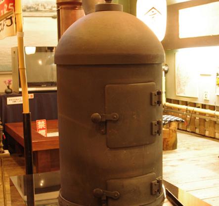 日本初のストーブのレプリカ