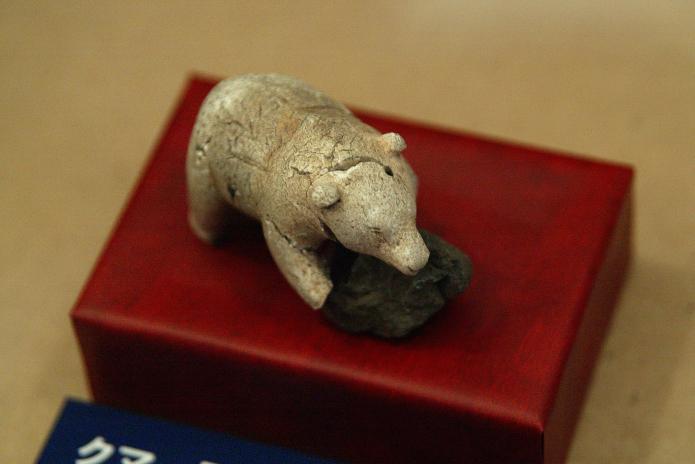 トコロチャシ跡遺跡出土 クマの彫刻品
