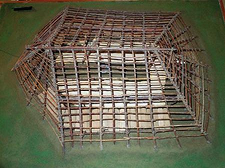 オホーツク文化住居模型