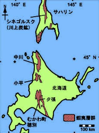 蝦夷層群の分布図